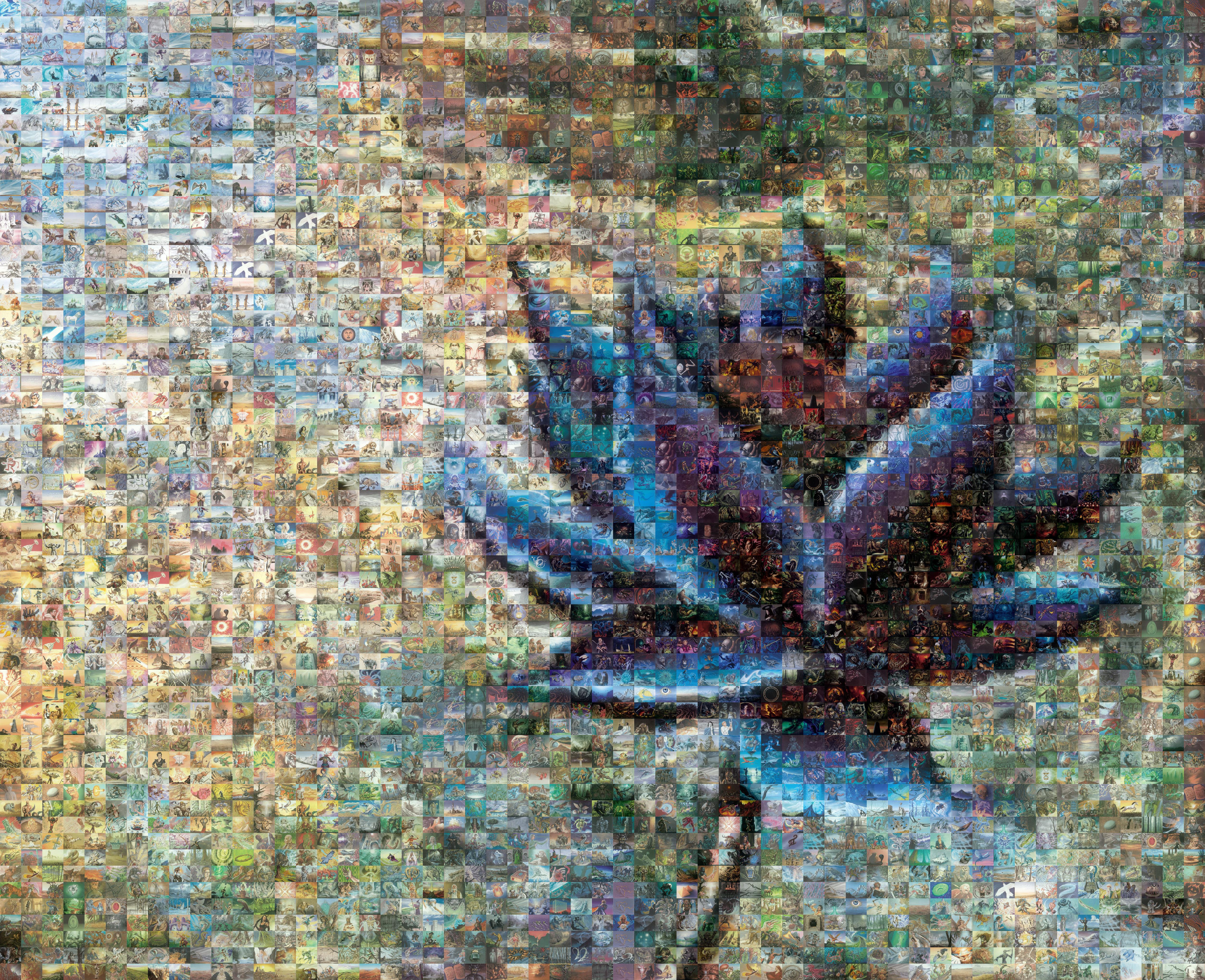 Mosaic A Week Black Lotus Plaid Spots
