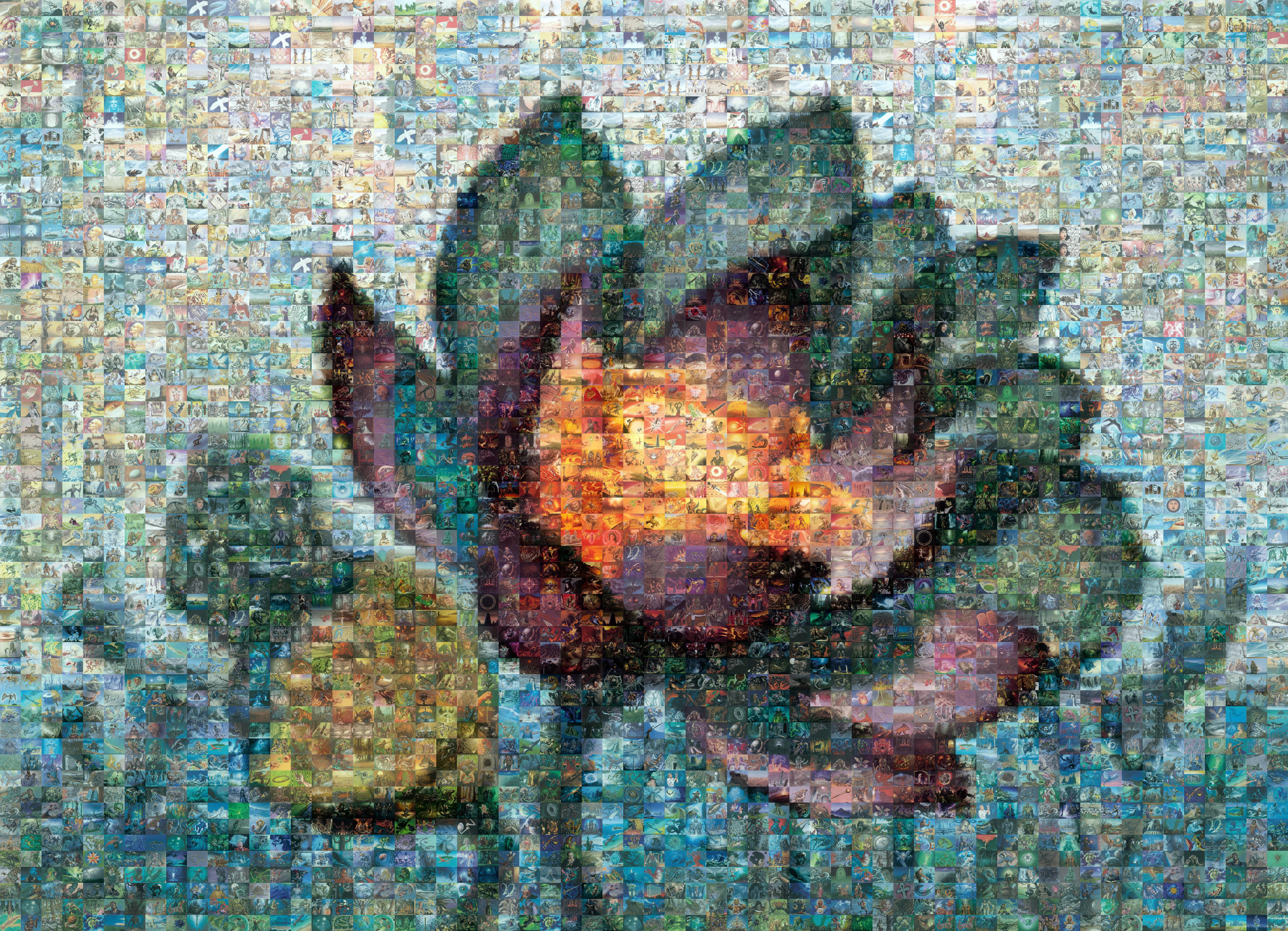 Mosaic A Week Lotus Bloom Plaid Spots